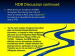 ndb discussion continued
