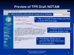 preview of tfr draft notam
