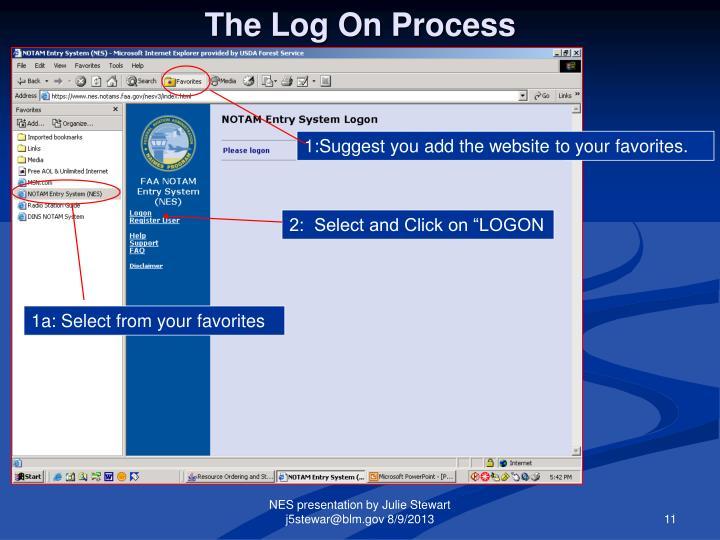 The Log On Process