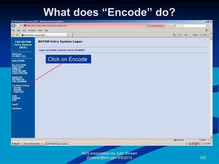 """What does """"Encode"""" do?"""