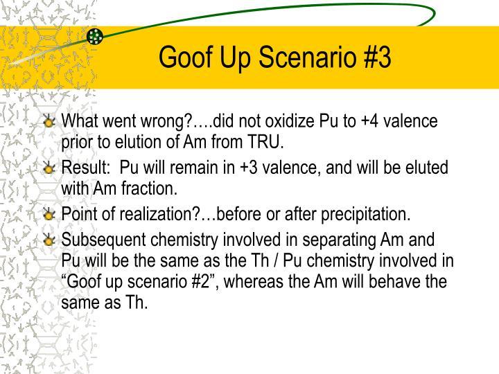Goof Up Scenario #3