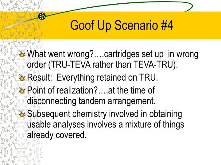 Goof Up Scenario #4