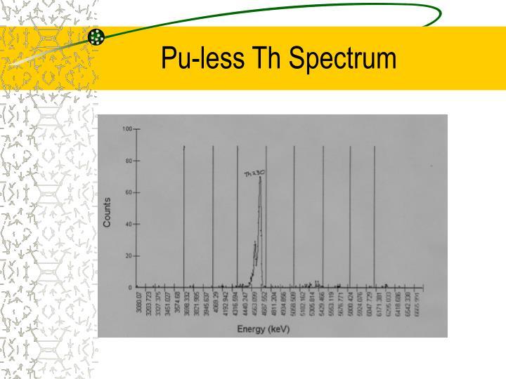 Pu-less Th Spectrum