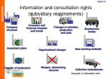information and consultation ri ghts subsidiary requirements