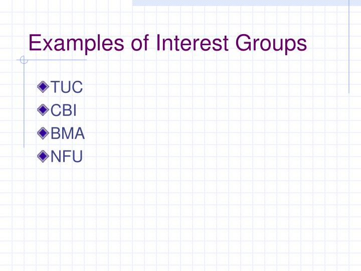 Examples of Interest Groups