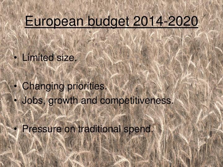 European budget 2014-2020