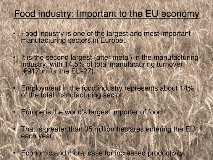 Food industry: Important to the EU economy
