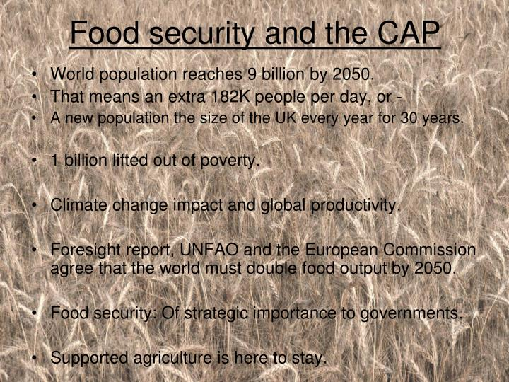 Food security and the CAP