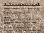 the commissioner s proposals