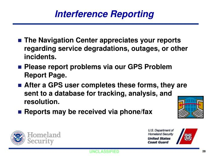 Interference Reporting
