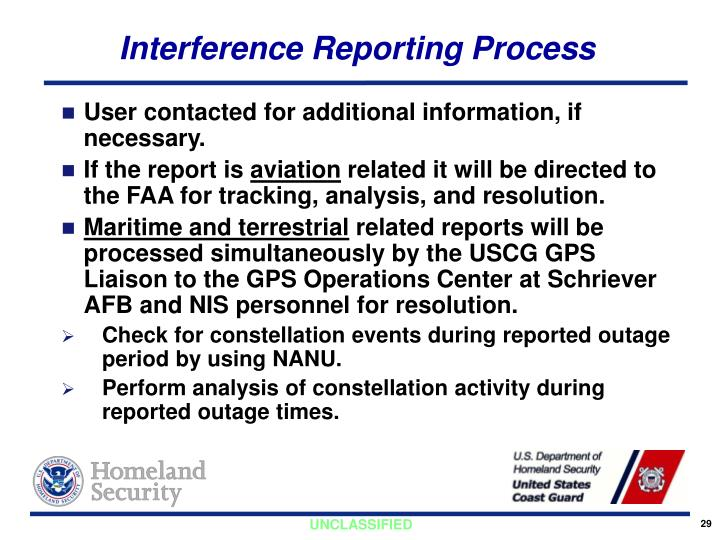 Interference Reporting Process