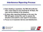 interference reporting process1