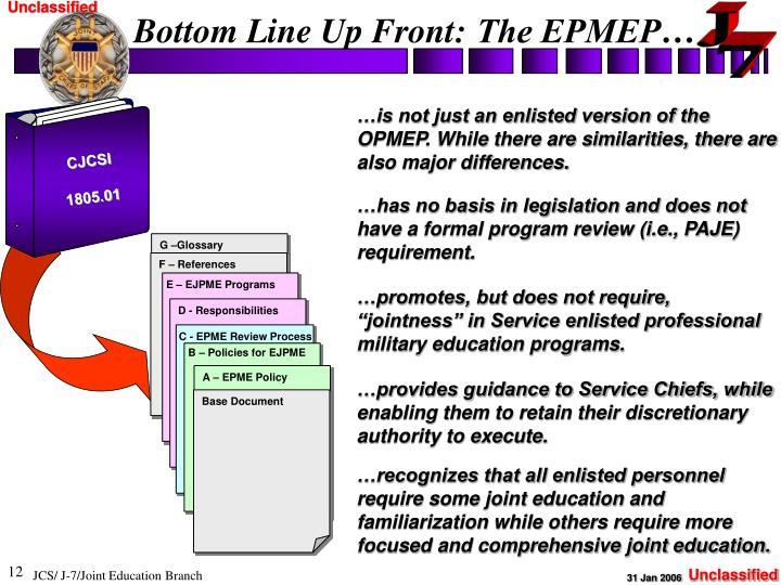 Bottom Line Up Front: