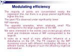 modulating efficiency