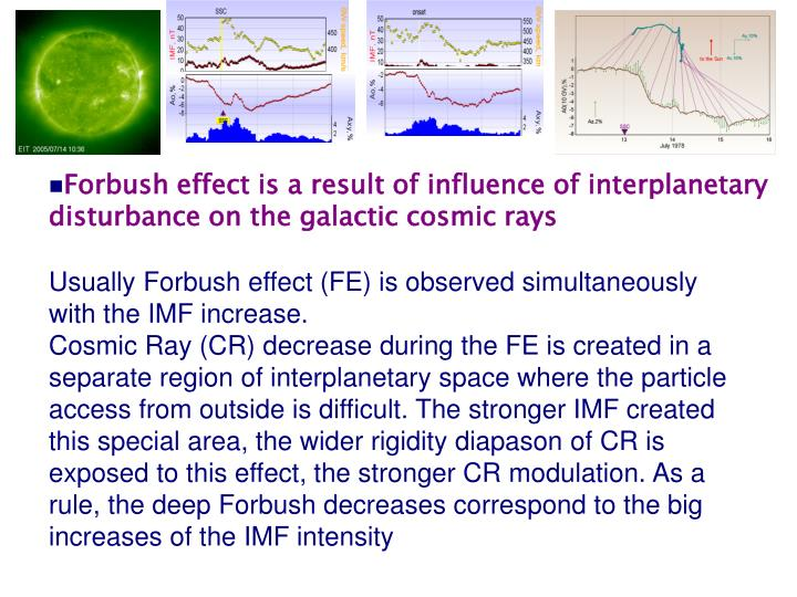 Forbush effect is a result of influence of interplanetary disturbance on the galactic cosmic rays