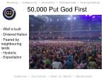 50 000 put god first