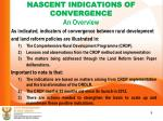 nascent indications of convergence an overview