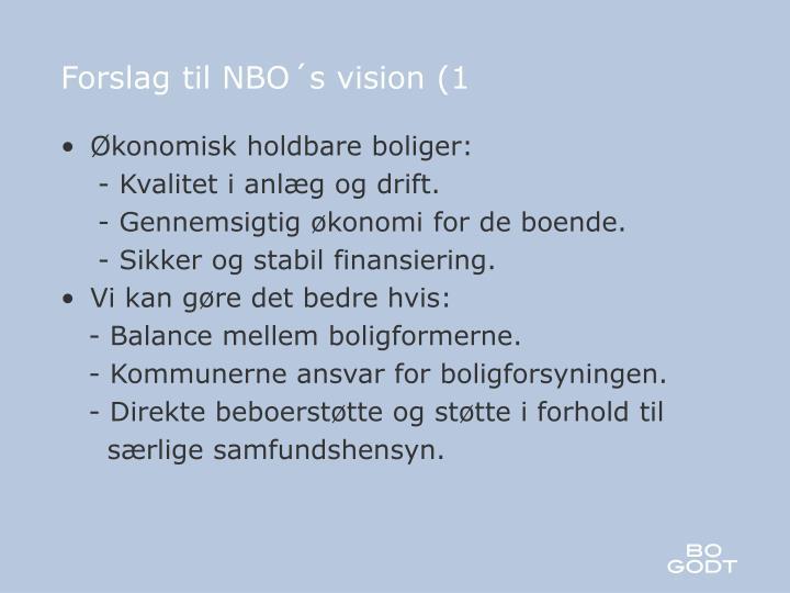 Forslag til NBO´s vision (1