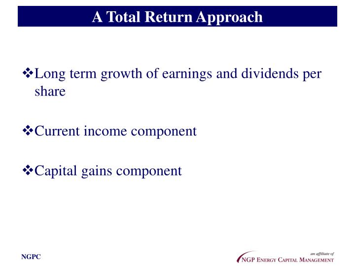 A Total Return Approach