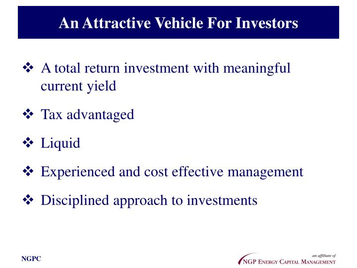 An Attractive Vehicle For Investors