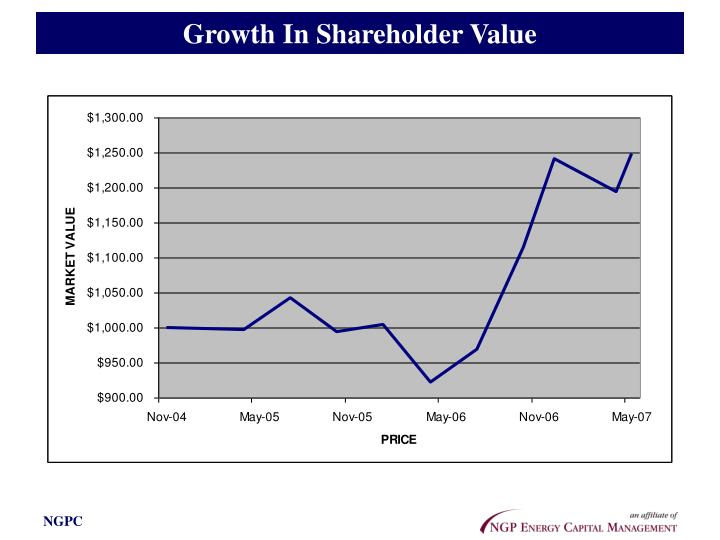 Growth In Shareholder Value