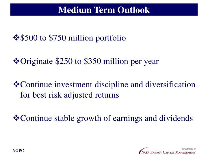Medium Term Outlook