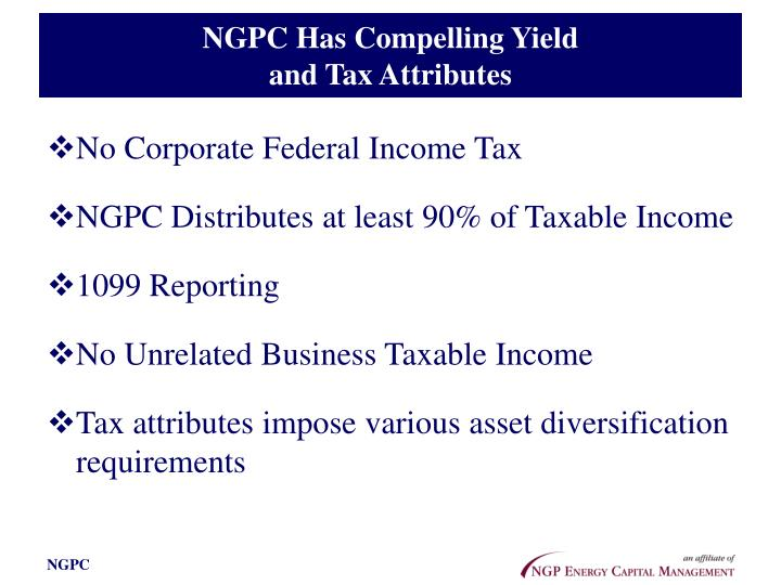 NGPC Has Compelling Yield