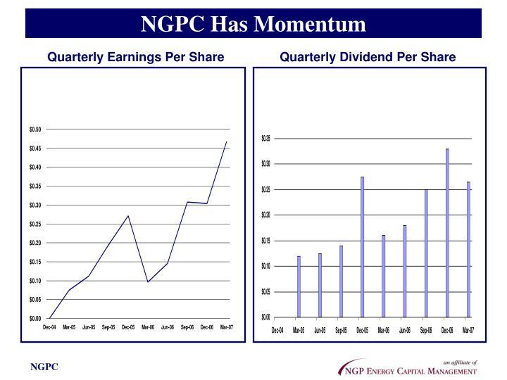 NGPC Has Momentum