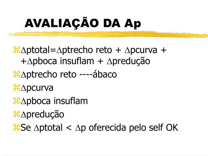 AVALIAÇÃO DA Ap