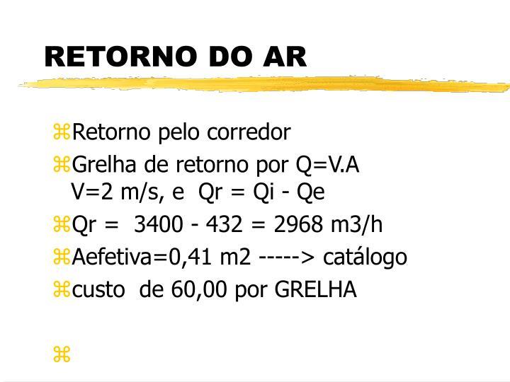 RETORNO DO AR