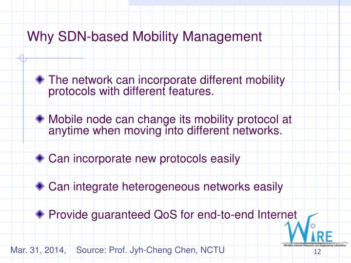 Why SDN-based Mobility Management