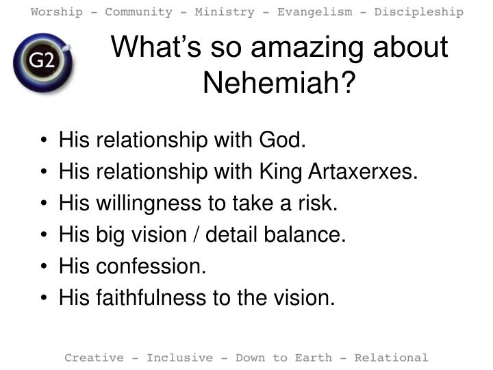 What's so amazing about Nehemiah?