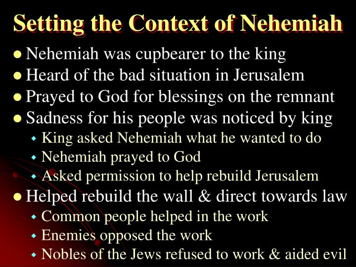 Setting the Context of Nehemiah