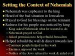 setting the context of nehemiah