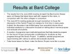 results at bard college