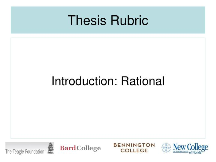 Thesis Rubric