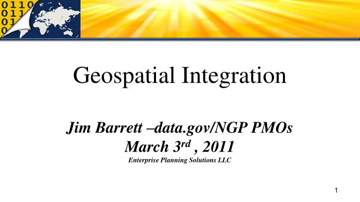 Geospatial Integration