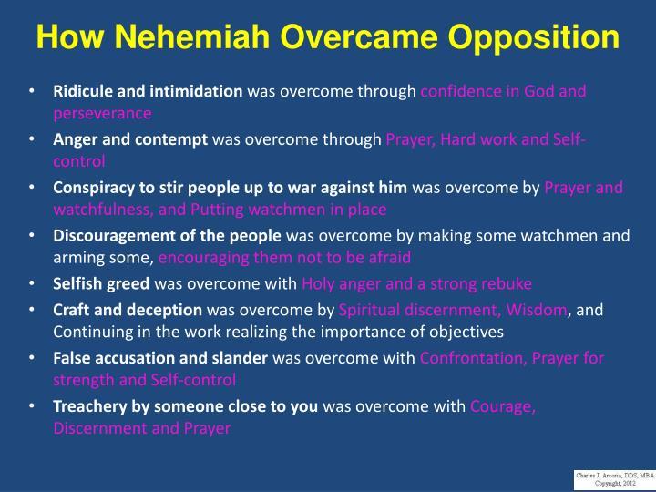 How Nehemiah Overcame Opposition