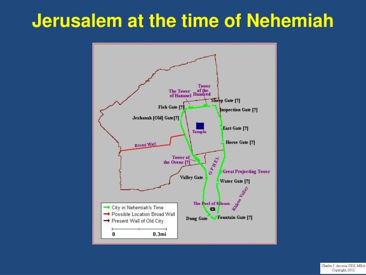 Jerusalem at the time of Nehemiah