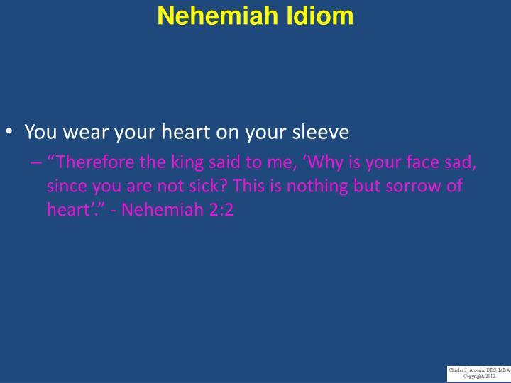 Nehemiah Idiom