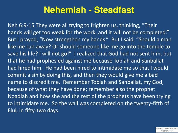 Nehemiah - Steadfast