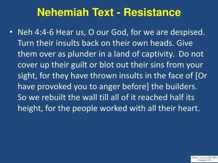 Nehemiah Text - Resistance