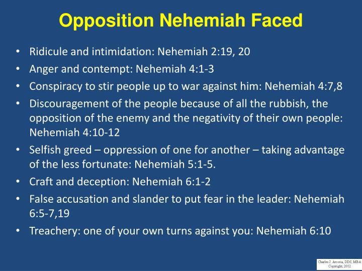Opposition Nehemiah Faced