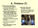 a thinkers t