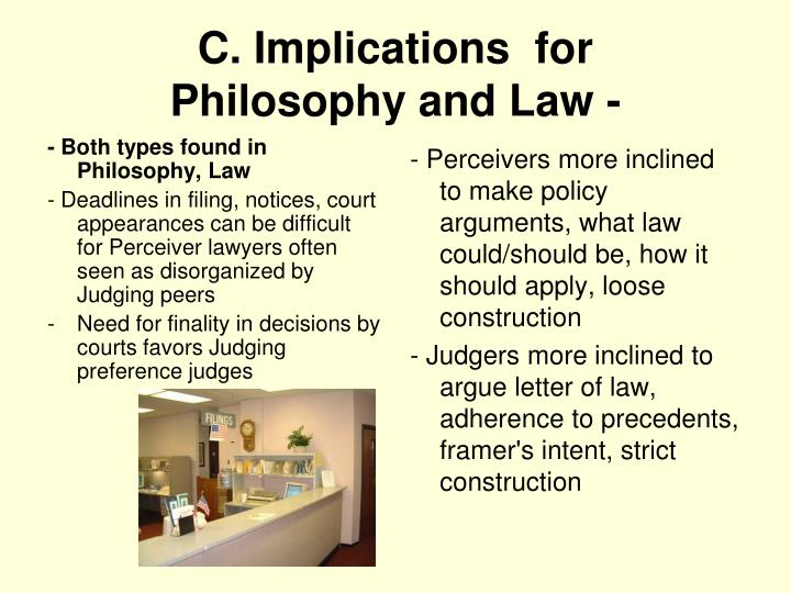 - Both types found in Philosophy, Law