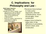 c implications for philosophy and law4