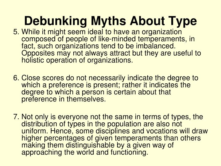 Debunking Myths About Type