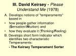 iii david keirsey please understand me 1978
