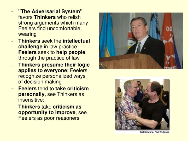 """The Adversarial System"""