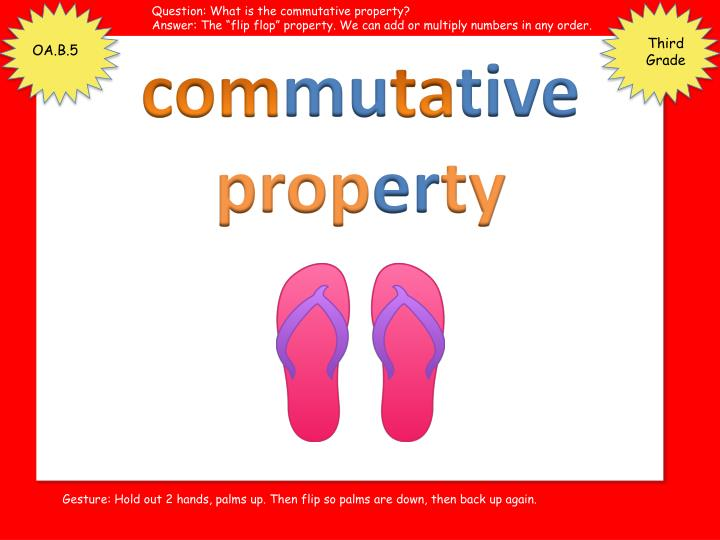 Question: What is the commutative property?